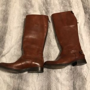 Frye - Melissa Back Zip Wide Calf Riding Boot 6B